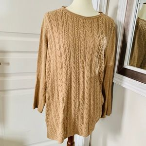 J Jill cable camel colored sweater